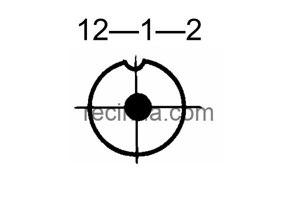 SHR12P1NG2 CABLE PLUG