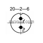 SHR20PK2NSH6 CABLE PLUG