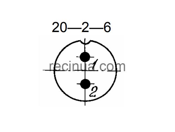 SHR20U2EG6 CABLE PLUG