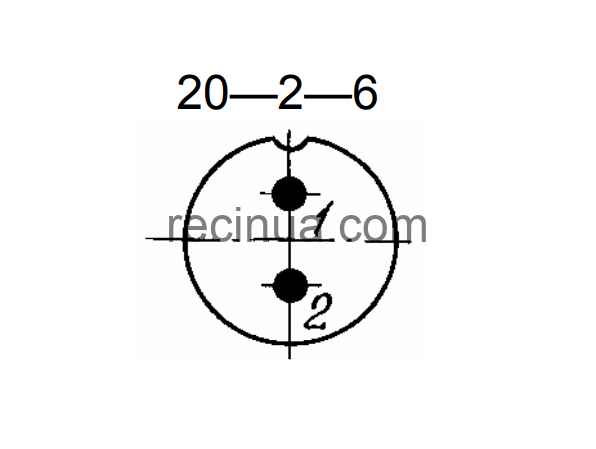 SHR20U2NG6 CABLE PLUG