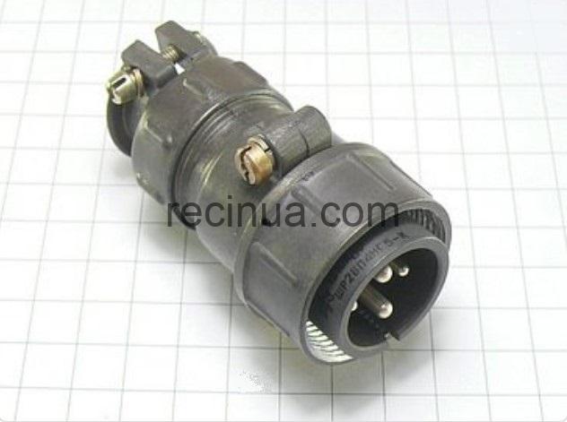 ШР28П4НГ5 вилка кабельная