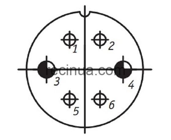 SHR28P6EG4 CABLE PLUG