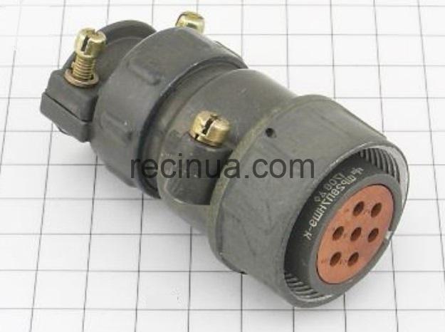 ШР28П7НШ9 розетка кабельная