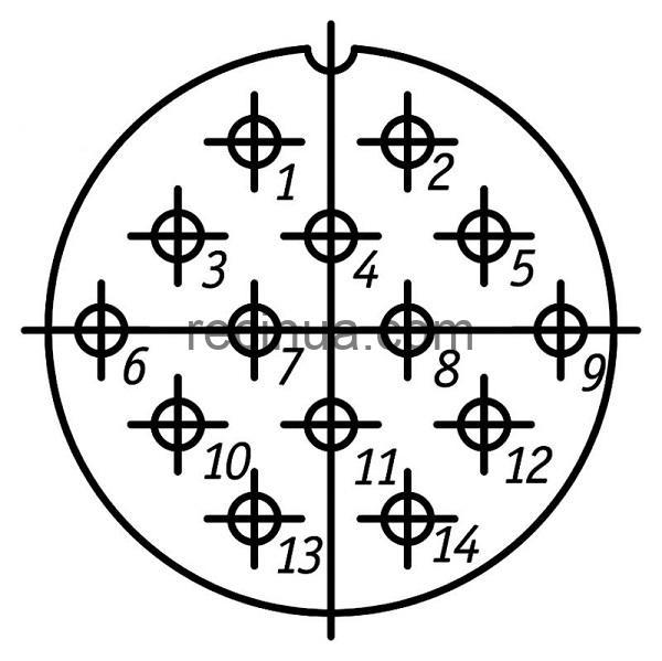 SHR32P14NG5 CABLE PLUG