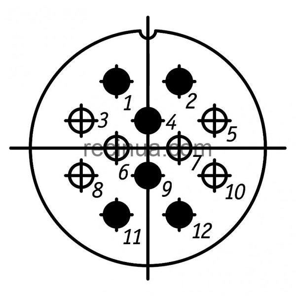 ШР32СК12НГ1 розетка приборная