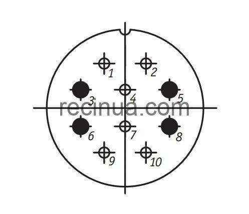 SHR36P10ESH1 CABLE PLUG