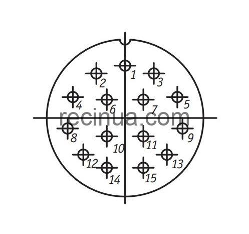 SHR36P15EG2 CABLE PLUG