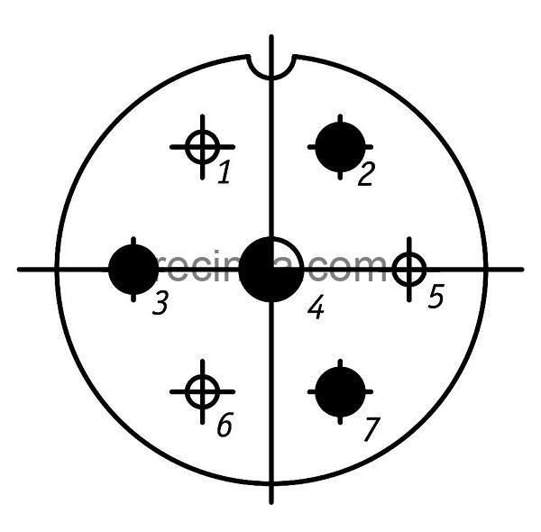 ШР36ПК7НГ1 розетка приборная
