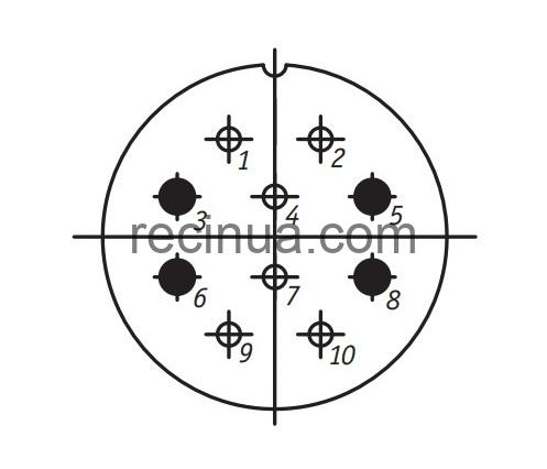 SHR36U10EG1 CABLE PLUG