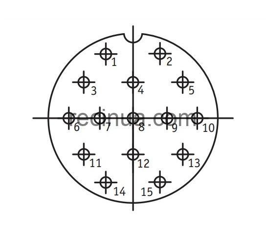 SHR40P15NG2 CABLE PLUG