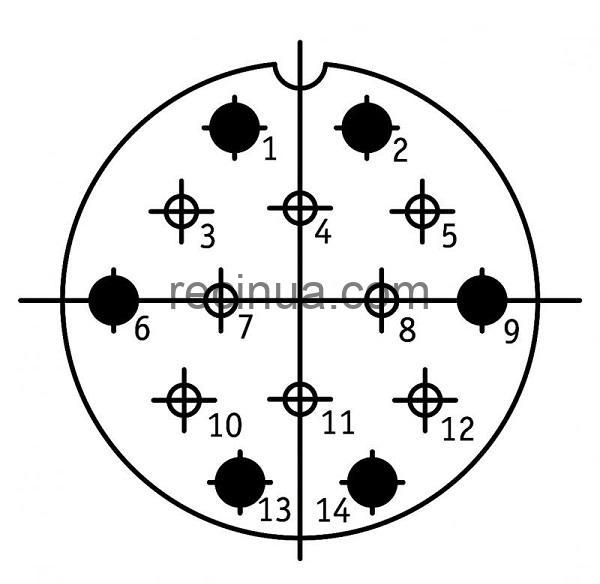 SHR40SK14NSH2 CABLE PLUG