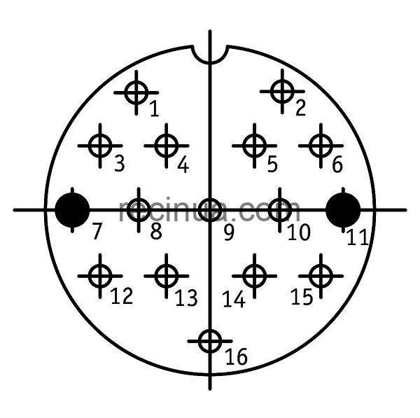 ШР40СК16НГ2 розетка приборная