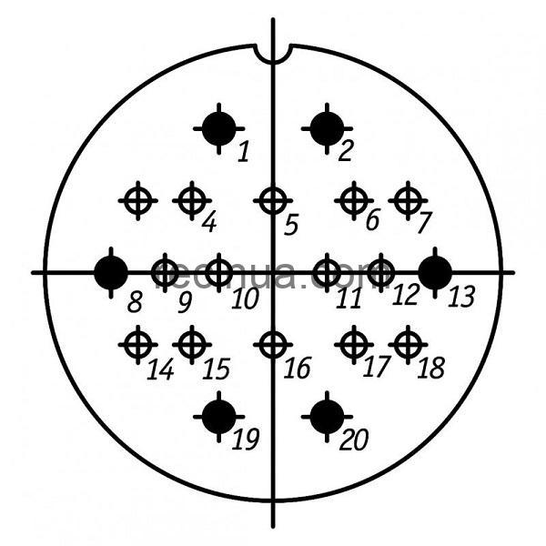 ШР48СК20НГ1 розетка приборная
