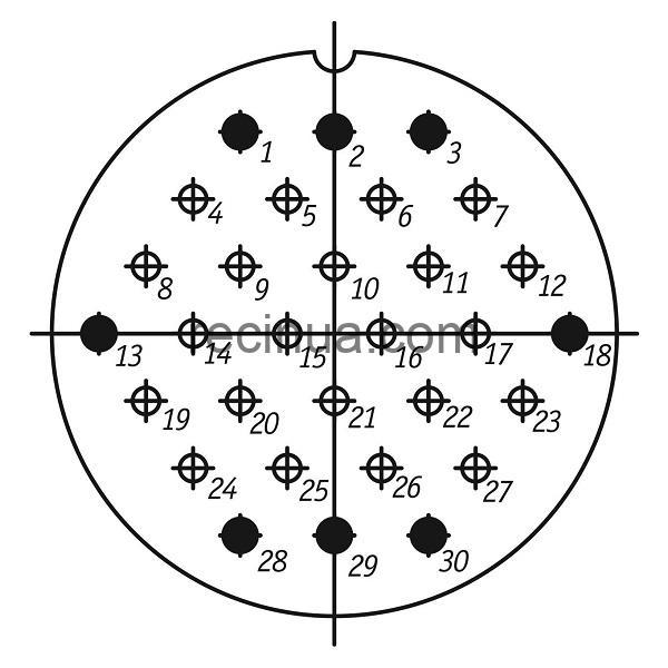 ШР55ПК30НГ1 розетка приборная