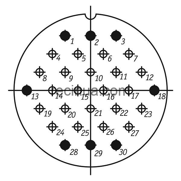 ШР55СК30НГ1 розетка приборная