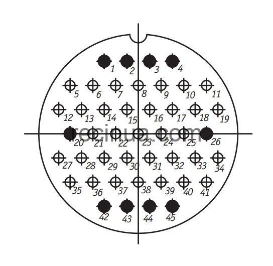 ШР60П45ЭГ1 розетка приборная