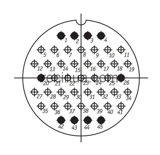 SHR60PK45NSH1 CABLE PLUG