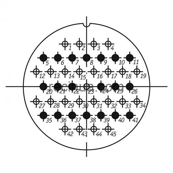 SHR60PK45NSH2 CABLE PLUG