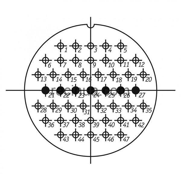 SHR60PK47ESH2 CABLE PLUG