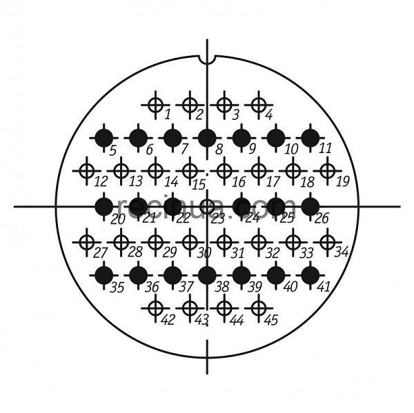 ШР60СК45НГ2 розетка приборная