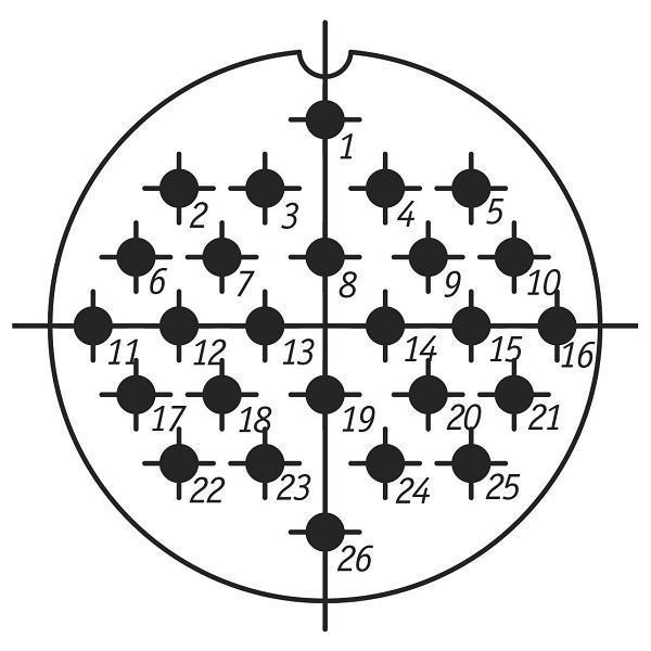 SSHR48PK26NSH3 CABLE PLUG