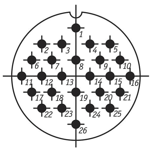 СШР48ПК26НШ3 вилка приборная