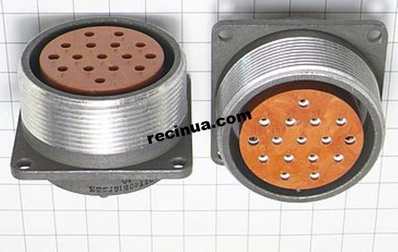 2РТТ40Б16Г23В розетка кабельная