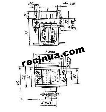 Розетка РГ1КП(3Г5ТП1)