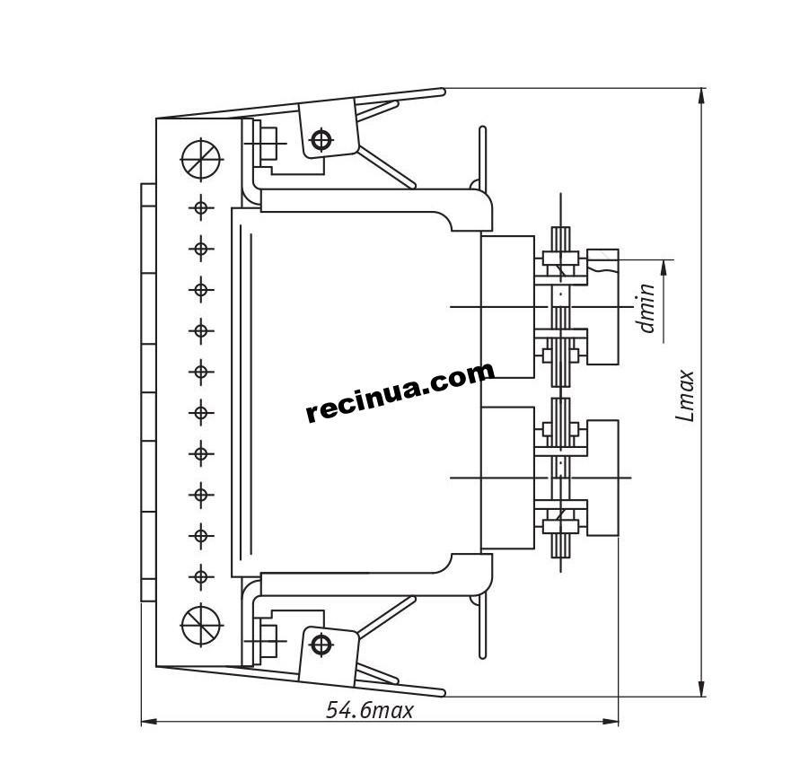 Розетка РГ1-КП-6-Г2ТГ4Т-В